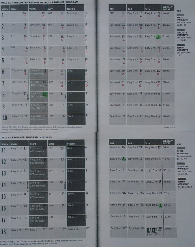 Pisa Marathon Training Schedule