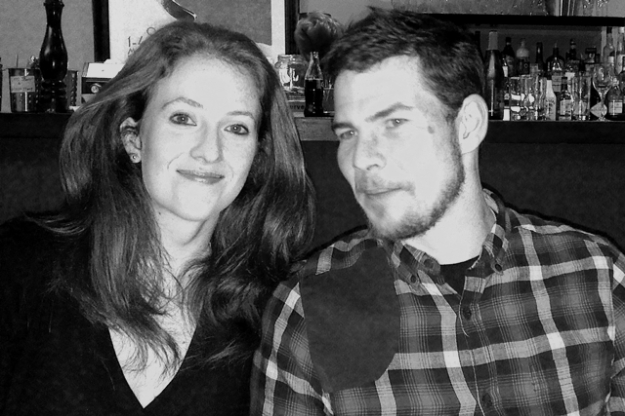 Anna and me (plus beard) enjoying the birthday vibe.