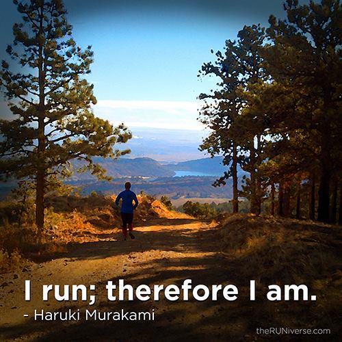 """""""I run; therefore I am."""" - Haruki Murakami (Gibson's Daily Running Quotes)"""