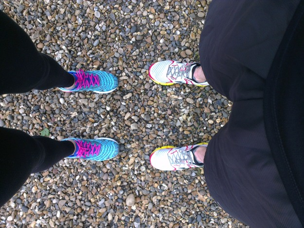 Today's run was bought to you by Mizuno, with appearances by Gabs and Al.