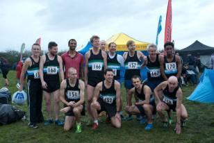 Most of the Harrow AC Senior Men's Team. (I'm second in from left, back row)