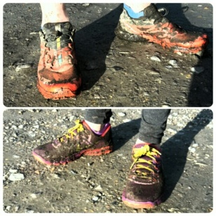 ...get muddy shoes together!