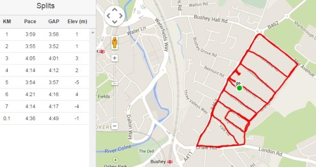 Neighbourhood Watch Foot Patrol - complete route. Criminals and ne'er-do-wells beware!
