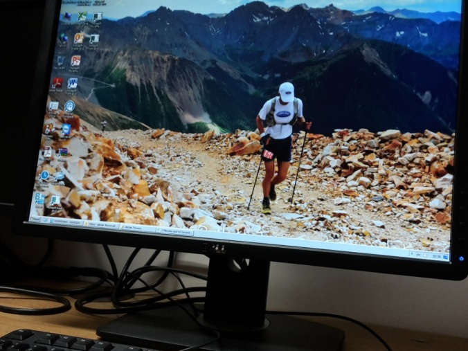 I settled into my new office pretty quickly - added some runspiration in the form of Hardrock 2012 picture to my desktop!