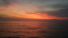 Sunset on the final day (as seen from the support vessel)
