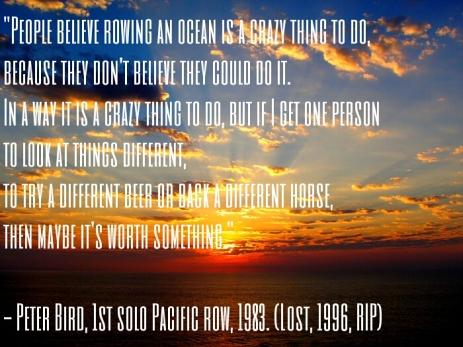 Peter Bird quote