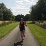 Gabs having just gone through the 26.2 mile mark for the first time!