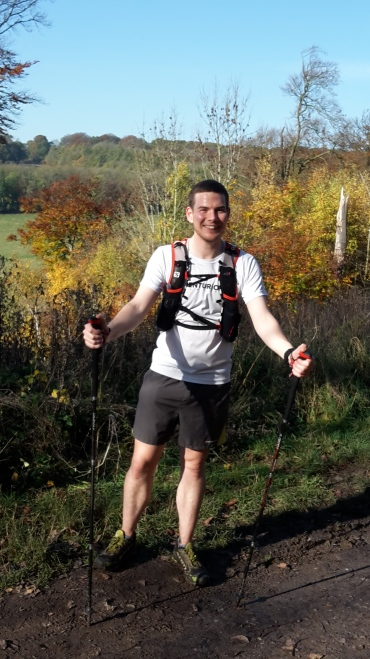 About 10km into my 14km hike. My first ever hike with poles and my first attempt at Nordic walking.