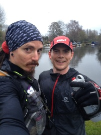 Back on the canal, training with The Iron Pirate in November 2015.