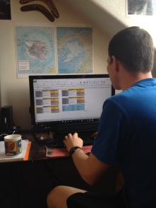 Devising Trevor's training plan for Grizedale 26 Trail Marathon on February 7th.