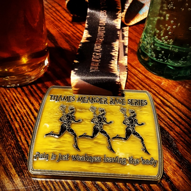 The medal for Thames Meander is awesome! A decent chunk of metallic bling to add to anyone's collection.