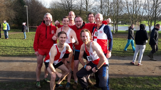 Watford Joggers Senior Men's Team. Hertfordshire Cross Country Championships 2016
