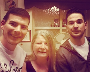 My brother and I with our dear Mother.