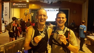 Rob and I at the finish line in 2016!