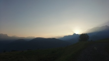 Day 7, August 28th - watching the sunrise between 1400m and 1950m.