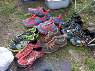 Day 2 - Wasdale Rare Goats Farm - a selection of shoes to choose from