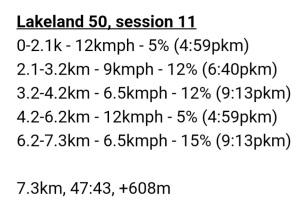 Lakeland 50, session 11