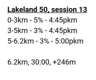 Lakeland 50, session 13