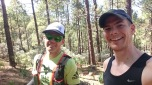 Out on the 125k course supporting my buddy Adrien.